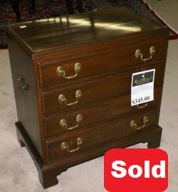 mahogany antique bachelor chest