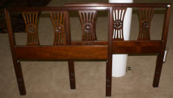 Pair of mahogany twin henredon twin headboards