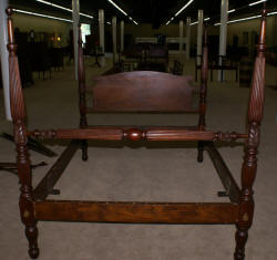 19th century brass bed with original box springs