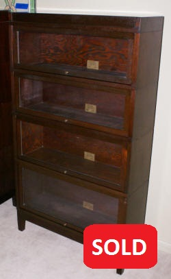 globe wernicke antique mahogany lawyer stack bookcase