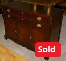 mahogany antique duncan phyfe junior buffet