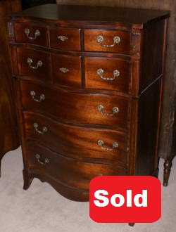 mahogany antique chest