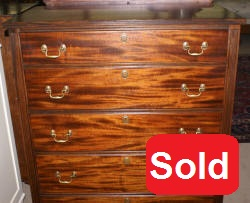 Sheraton mahogany antique chest