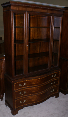 Mahogany Serpentine Front Fancher Furniture Banded Inlaid