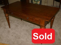 Sligh furniture company inlaid cherry desk
