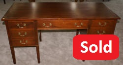 Solid mahogany antique partners desk