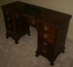 Antique rope carved walnut desk