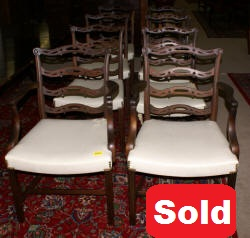 set of 8 Baker dining room chairs