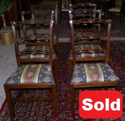 set of six shell carved mahogany dining room chairs