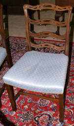 set of 4 baker dining room chairs