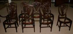 Set of six Hickory Chair Company mahgoany Chippendale dining room chairs
