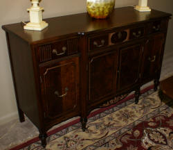 walnut complete antique dining room suite