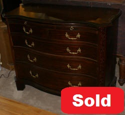 mahogany serpentine front antique dresser