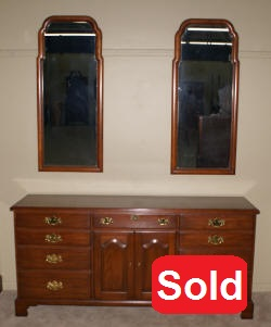 Henkel Harris solid wild black cherry dresser finish #24