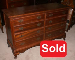 antique mahogany bow front dresser