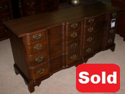 solid cherry block front double dresser by century