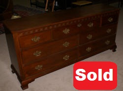 baker red mahogany double dresser