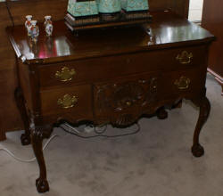solid mahogany antique dresser