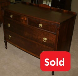 Berkey and gay walnut inlaid antique dresser