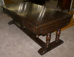 oak antique library table