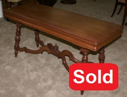 walnut antique library table