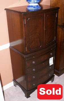 mahogany antique liquor cabinet