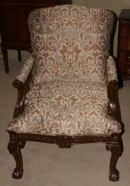 Matched Pair Of Chippendale Arm Chairs