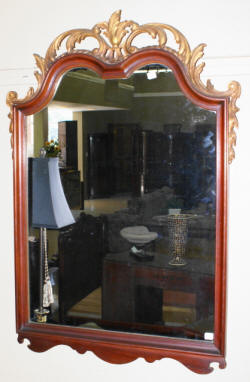 mahogany heavily carved gold gilded French mirror