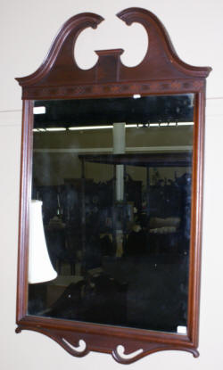 dark mahogany chinese chippendale mirror