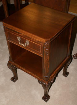 Chippendale Mahogany Ball And Claw Foot Night Stand