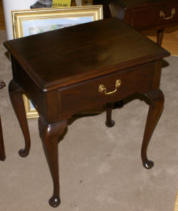 Henkel harris queen anne mahogany night stand