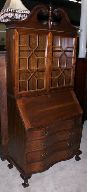 Walnut Antique Chippendale Secretary Desk
