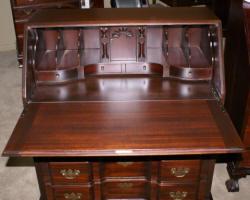 Mahogany Serpentine Front Governor Winthrop Desk