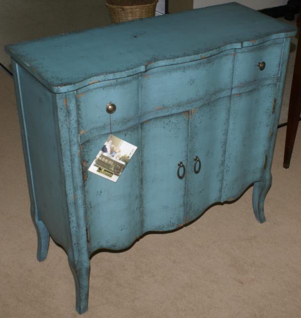 Pulaski Furniture Company Distressed Turquoise Accent