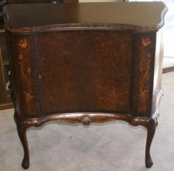 French carved antique inlaid walnut server