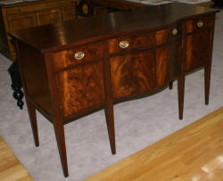 Banded inlaid mahogany antique sideboard