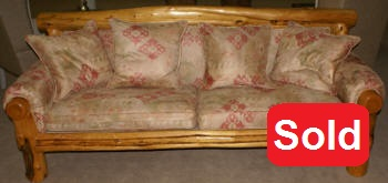 Primitive  custom made pine sofa from Aspen, Colorado