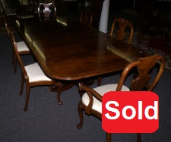 Jonathan Charles dining room table and 6 baker queen anne dining room chairs