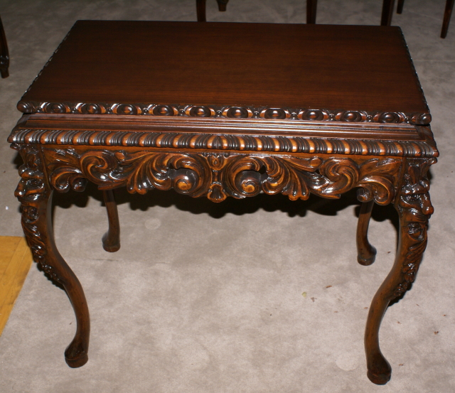 Heavily Carved Antique Gothic Table