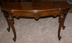 French carved antique library table