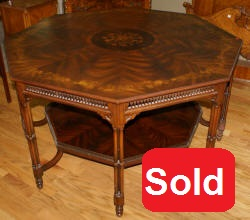 Maitland Smith flower inlaid center table