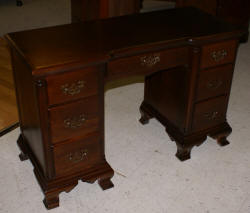 solid mahogany antique vanity